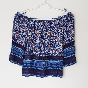 Lily white off shoulders boho chic crop top